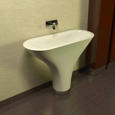 Modern design freestanding washbasin Flounder, made in Italy