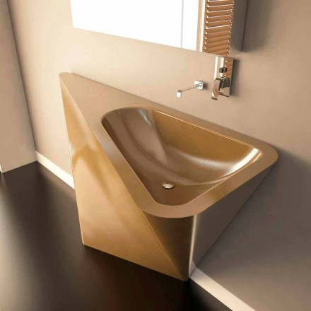 Modern design freestanding sink Mullet, handcrafted in Italy