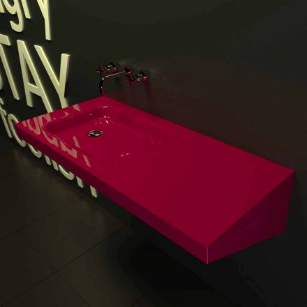Wall mounted sink Saddled, modern Italian design made in Italy