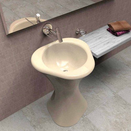 Modern design freestanding sink Twister, handcrafted in Italy