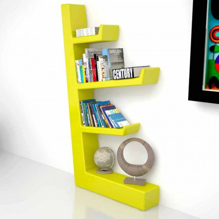 Modern design Solid Surface bookcase Austen, handcrafted in Italy