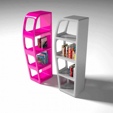Modern design Solid Surface bookcase B-side, handcrafted in Italy