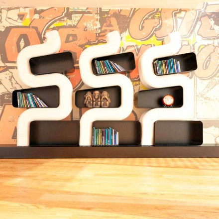 Modern design Solid Surface bookcase Ser P, handcrafted in Italy