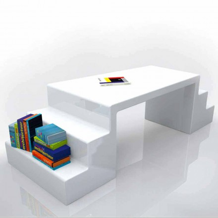 Modern design office desk Abbott, available in white, green or moka