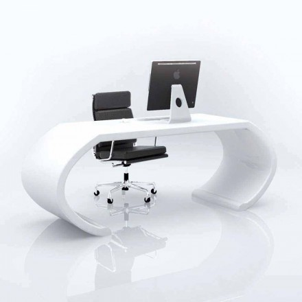 Modern design Solid Surface office desk Adams, handmade in Italy