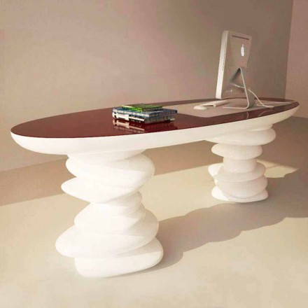Modern design office desk Aldington, handcrafted in Italy