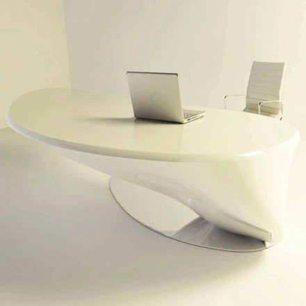 Modern design office desk Atkinson, made of Solid Surface, Italian design