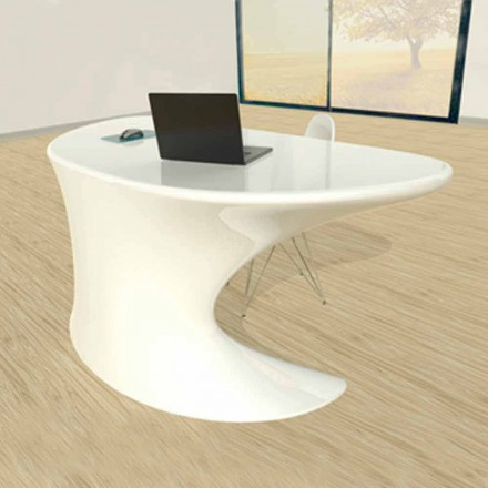 Modern design office desk Cobra, available in white, blue or grey