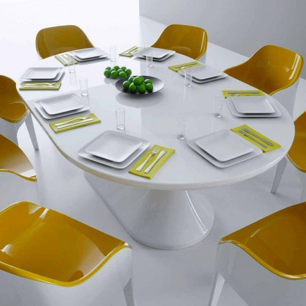 Modern design dining table Lunch Table, made in Italy, Italian design