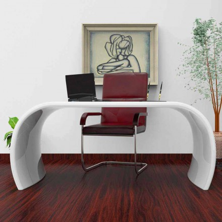 Modern design office desk Ola, handmade in Italy, Italian design