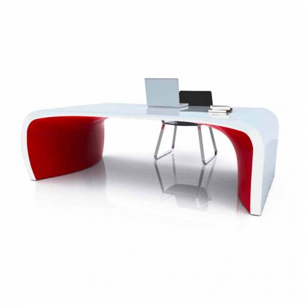 Modern design office desk Sonar, handcrafted product made in Italy