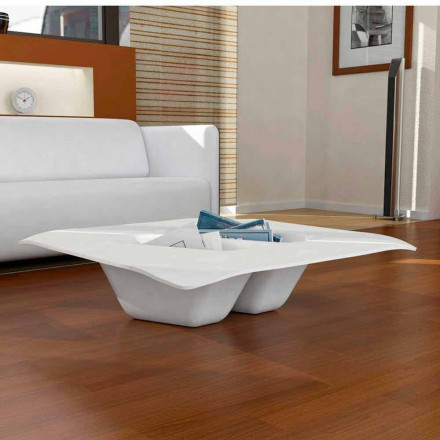 Contemporary design Solid Surface coffee table Manta, made in Italy