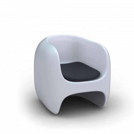 Modern design Solid Surface armchair Apple, handcrafted in Italy