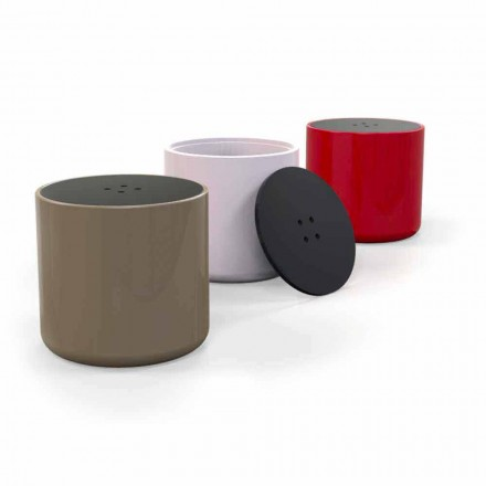 Modern design Solid Surface coffee table/pouffe Button, made in Italy
