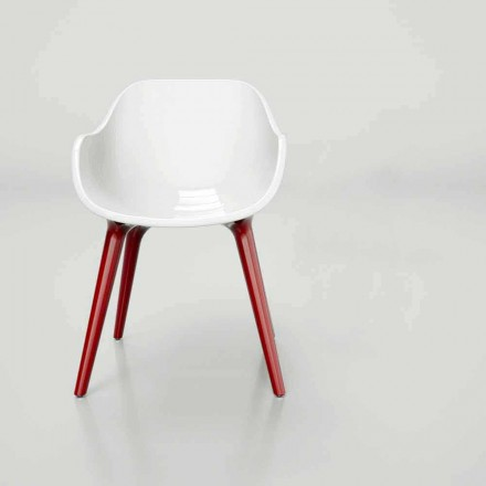 Modern design Solid Surface chair Manù, Scandinavian style made in Italy