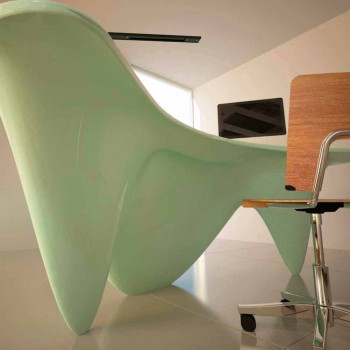 Sinuous Desk Office Furniture Made in Italy