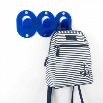 2 Triple Wall Hanger in Colored Plexiglass Clip Design - Freddie