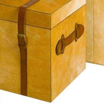 2 modern design trunks in Deii light brown pony