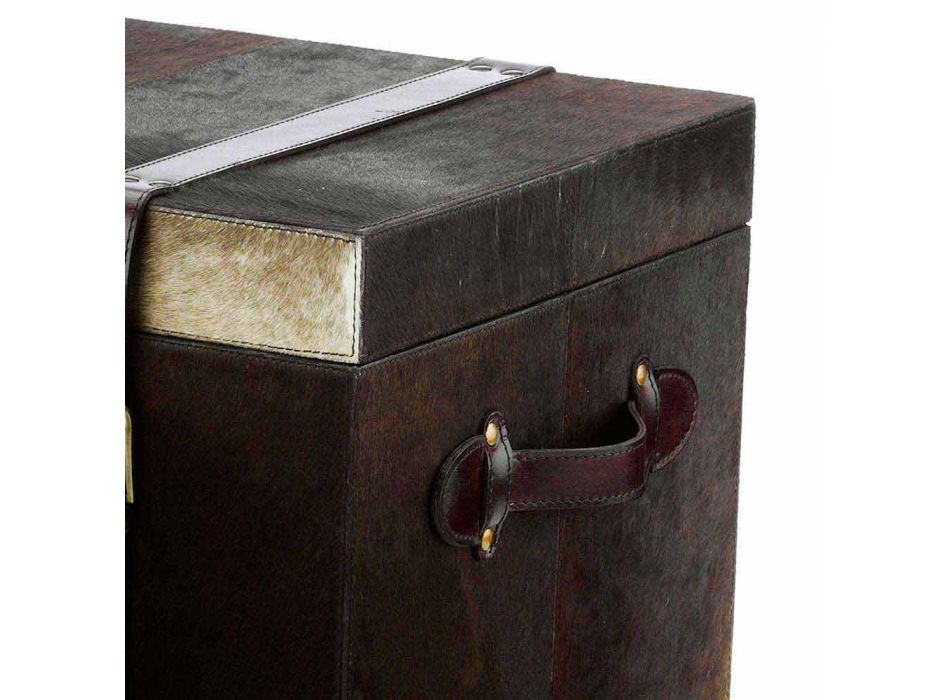 2 design trunks in Ceskini dark brown pony, big and small