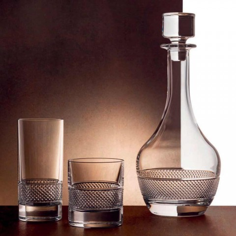 2 Wine Bottles with Round Design Ecological Crystal Lid - Milito