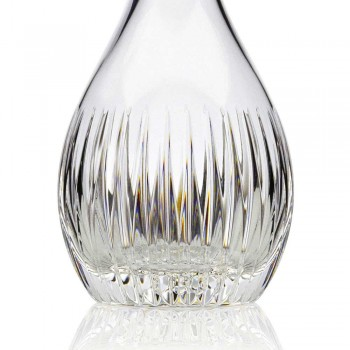 2 Wine Bottles of Ecological Crystal Hand Ground Italian Luxury - Desire