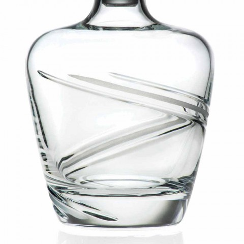 2 Whiskey Bottles in Italian Artisan Ecological Crystal - Cyclone