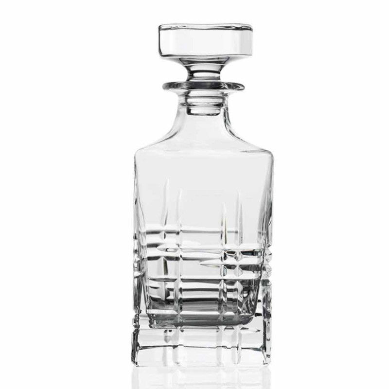 2 Whiskey Bottles with Crystal Decorated Square Design Cap - Arrhythmia