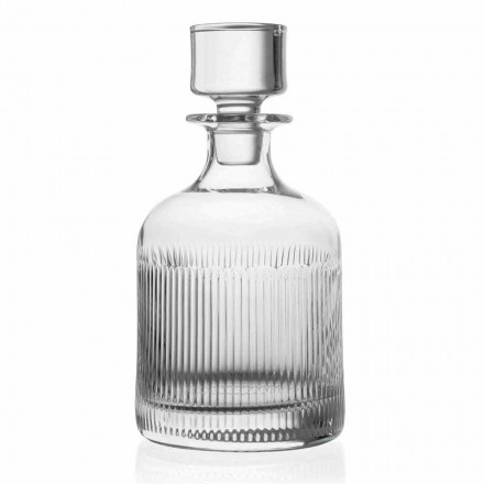 2 Whiskey Bottles in Eco-Friendly Crystal, Vintage Design, Luxury Line - Tattile