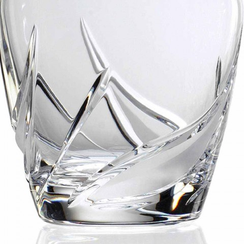 2 Crystal Whiskey Bottles with Luxury Decorated Design Cap - Advent