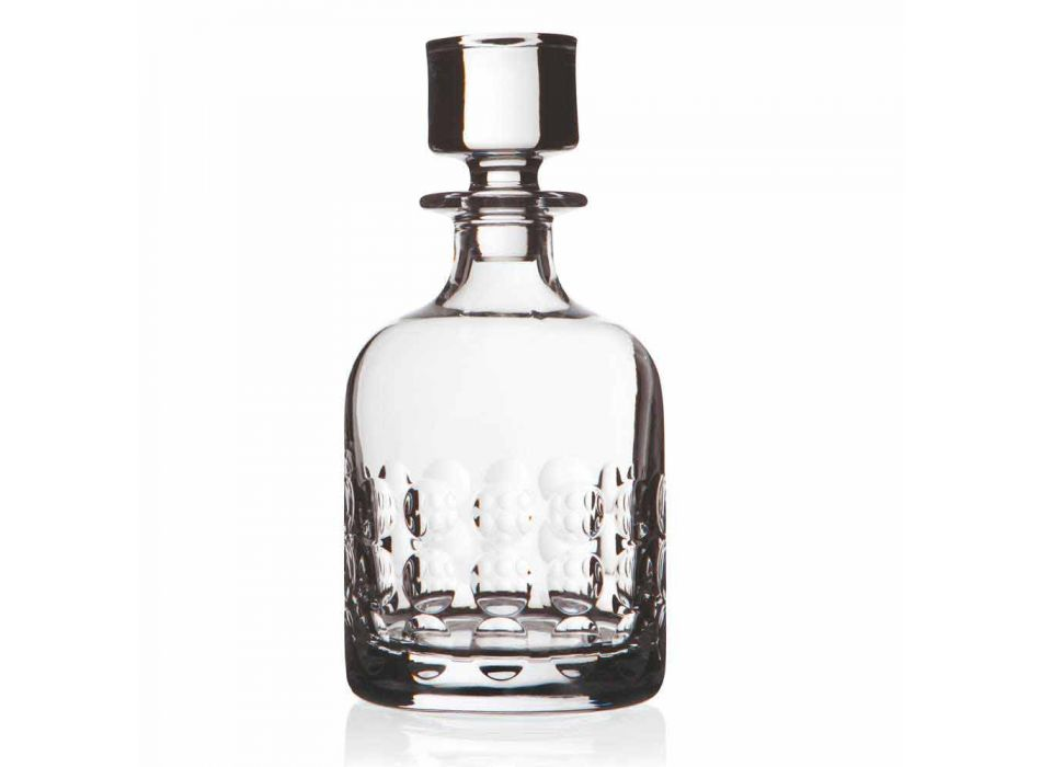 2 bottles for whiskey in ecological crystal decorated with cap - titanioball