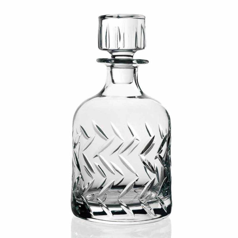 2 Eco-friendly Crystal Whiskey Bottles with Vintage Decorative Cap - Arrhythmia
