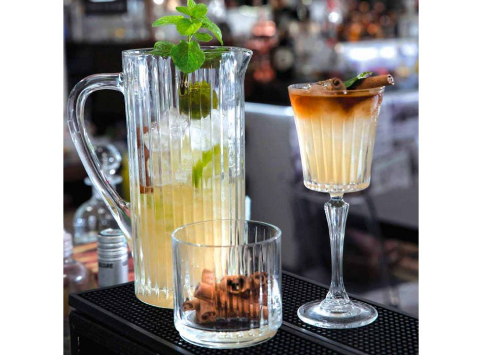 2 Jugs of Water and Drinks in Eco Crystal Decorated Luxury Design - Senzatempo