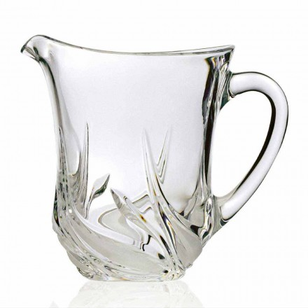2 Eco Crystal Water Jugs with Decorations, Made in Italy Luxury Line - Avvento