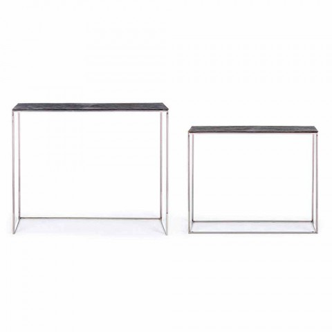 2 Consolle in Steel and Plated Aluminum Modern Design Homemotion - Narnia