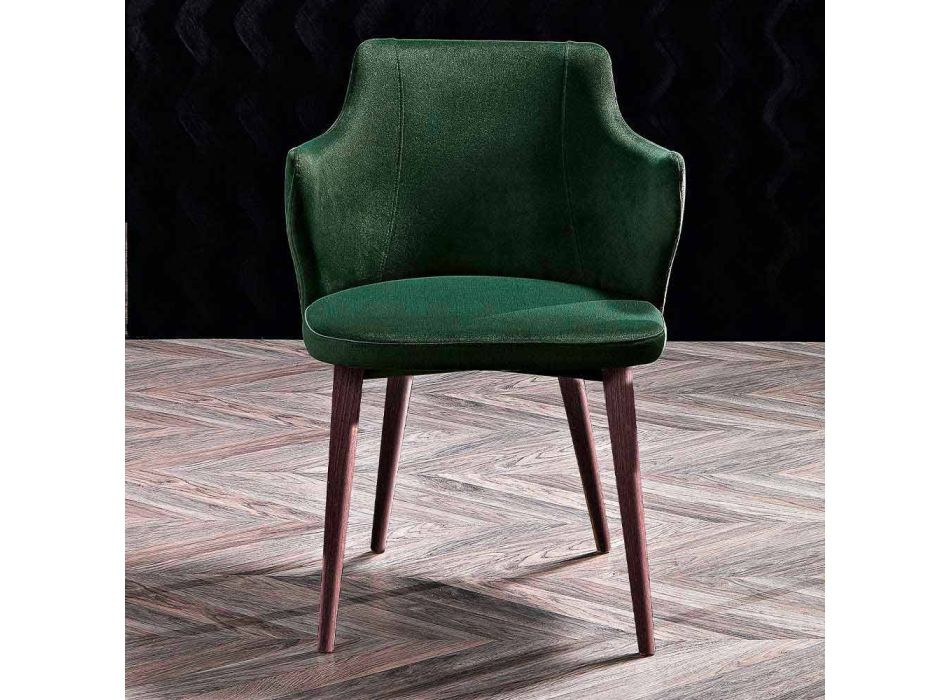 2 Dining Room Armchairs in Colored Fabric and Design Ash - Duchessa