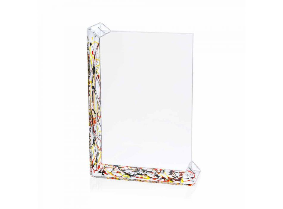 2 Multiple Table Photo Frame in Colored Plexiglass or with Wood - Menelao