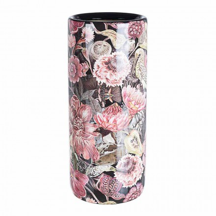 2 Porcelain Umbrella Stand with Homemotion Flower Decal - Jolly