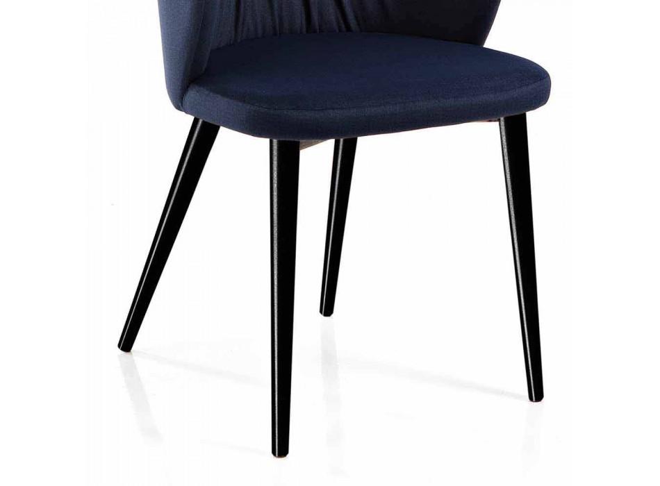2 Living Room Chairs in Fabric and Ash of Elegant Design - Reginaldo