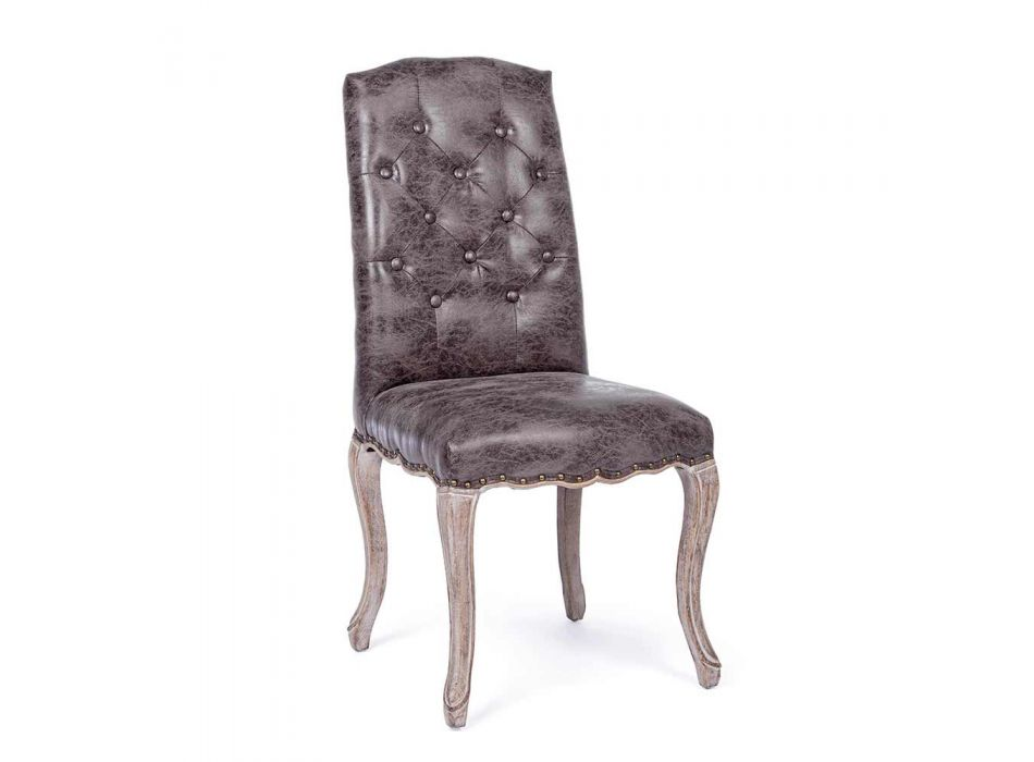 2 Dining Room Chairs with Upholstered and Upholstered Seat Homemotion - Mania