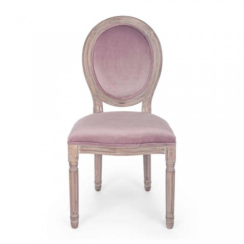 2 Classic Design Dining Room Chairs in Polyester Homemotion - Dalida