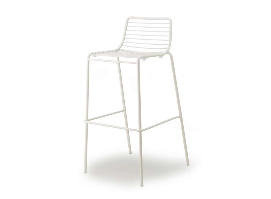 2 Outdoor Stools in Painted Steel Made in Italy - Scab Design Summer