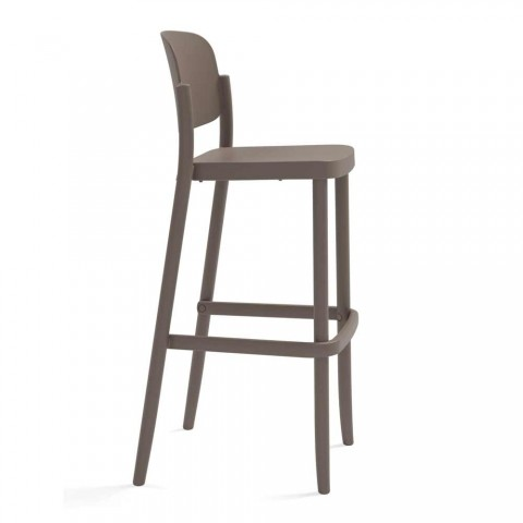 2 Outdoor Stackable Stools in Polypropylene Made in Italy - Calista