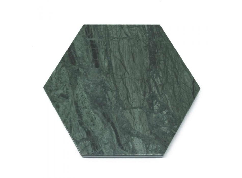 2 Hexagonal Coasters in White, Black or Green Marble Made in Italy - Paulo