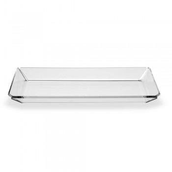 2 Modern Design Entrance Plexiglass Tray in Transparent Plexiglass - Tonio