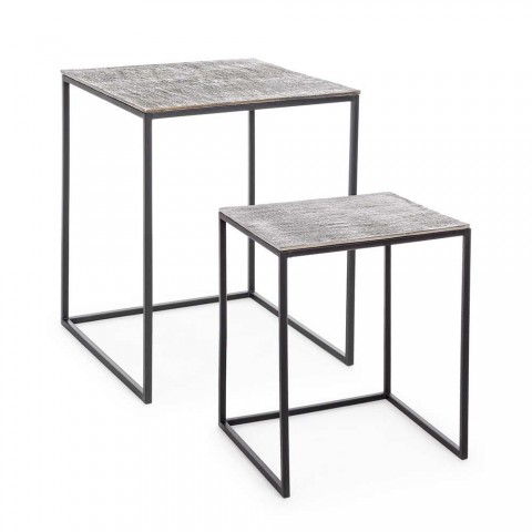2 Homemotion Aluminum and Painted Steel Coffee Tables - Sereno