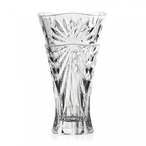 2 Table Decoration Vases in Unique Design Ecological Crystal - Daniele