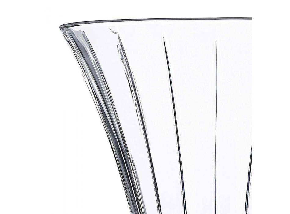 2 Design Decoration Vases in Transparent Eco Crystal Decorated Luxury - Senzatempo
