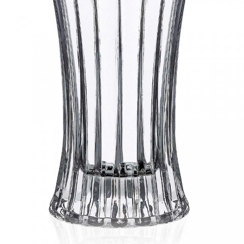 2 Design Decoration Vases in Transparent Eco Crystal Decorated Luxury - Senzatempo