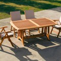 Extendable outdoor table made of teak wood Amalfi