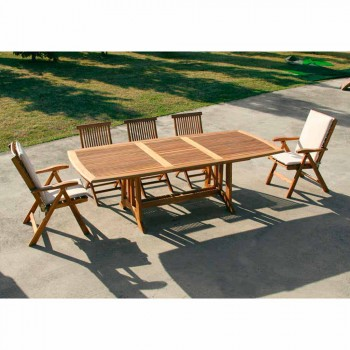 Amalfi Real Teak Extendable Table